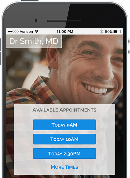 Doctor Appointment Scheduling on mobile